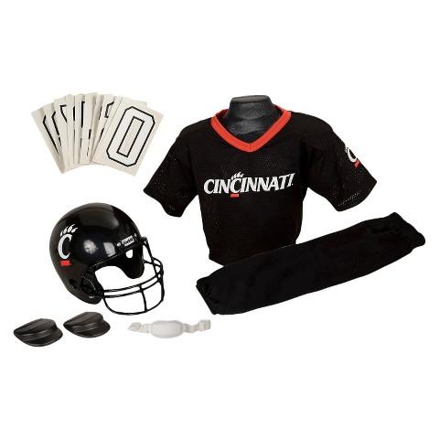 Franklin Sports Cincinnati Bearcats Deluxe Football Helmet/Uniform Set