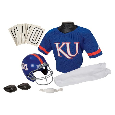 Kansas Jayhawks Franklin Sports Deluxe Football Helmet/Uniform Set