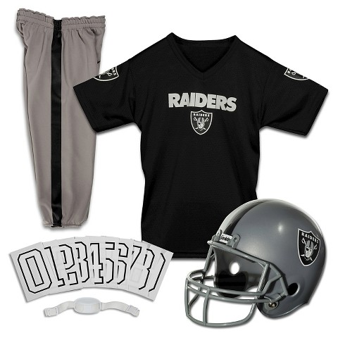Franklin Sports Oakland Raiders Deluxe Football Helmet/Uniform Set
