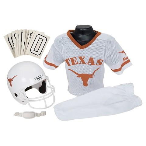 Franklin Sports Texas Longhorns  Deluxe Football Helmet/Uniform Set