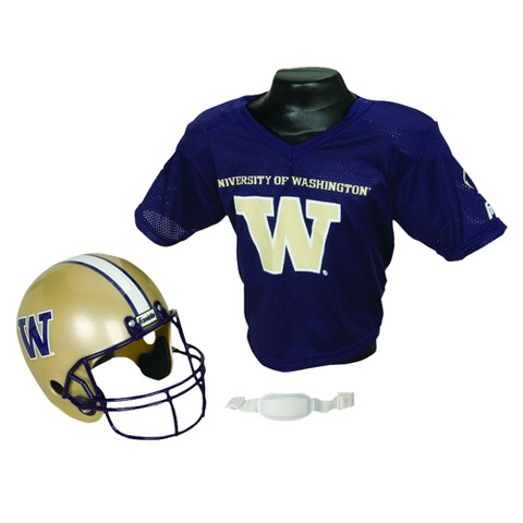 Washington Huskies Franklin Sports Helmet/Jersey set- OSFM ages 5-9