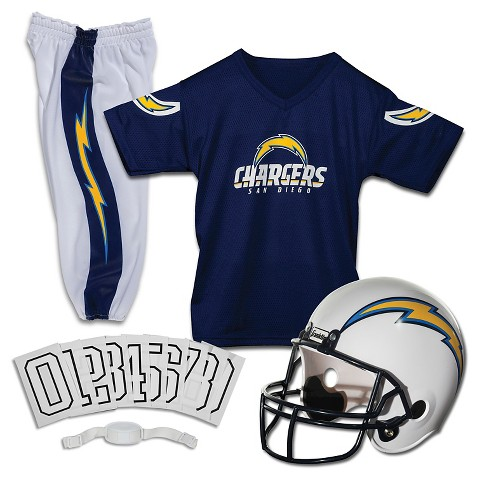 Franklin Sports San Diego Chargers Deluxe Football Helmet/Uniform Set