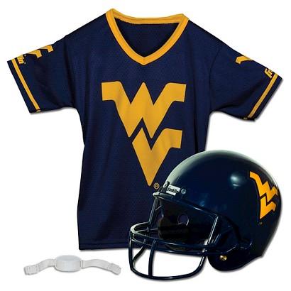Franklin Sports West Virginia Helmet/Jersey set- OSFM ages 5-9