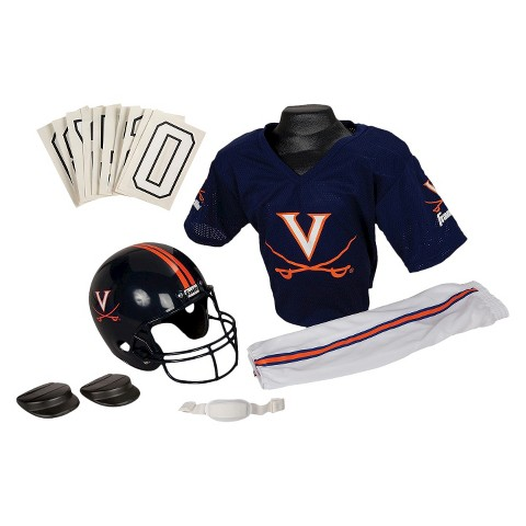 Franklin Sports Virginia Cavaliers Deluxe Football Helmet/Uniform Set