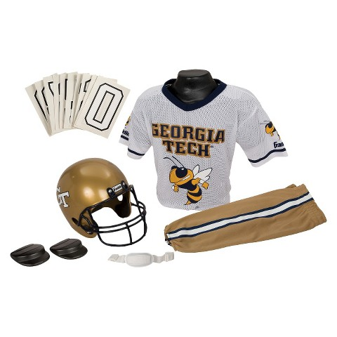 Franklin Sports Georgia Tech Yellow Jackets Deluxe Football Helmet/Uniform Set