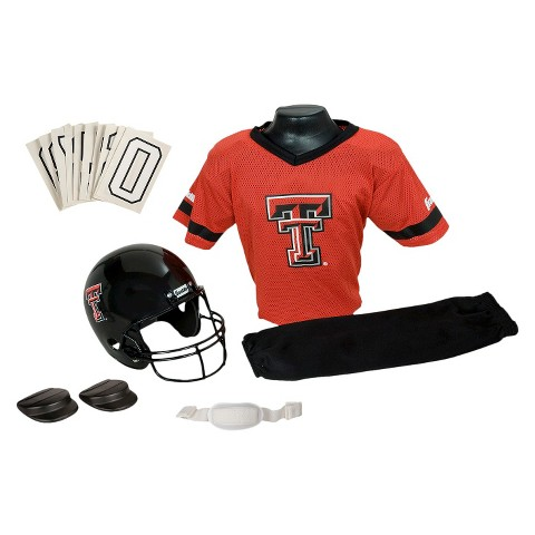 Franklin Sports Texas Tech Red Raiders Deluxe Football Helmet/Uniform Set