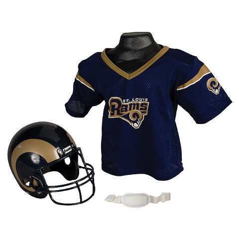 Franklin Sports NFL St. Louis Rams Helmet/Jersey Set- OSFM ages 5-9