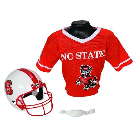Franklin Sports NC State Helmet/Jersey set- OSFM ages 5-9