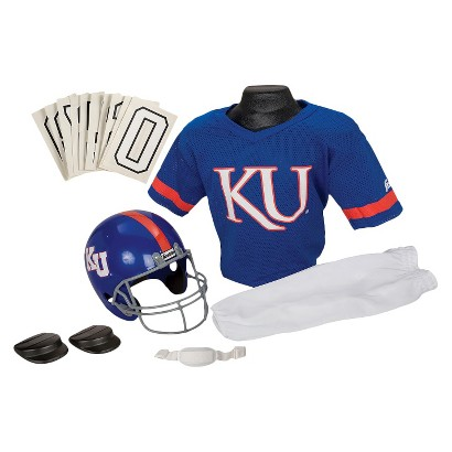 Franklin Sports Kansas University Jayhawks Deluxe Football Helmet/Uniform Set - Medium