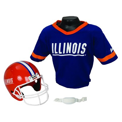 Franklin Sports Illinois Helmet/Jersey set- OSFM ages 5-9