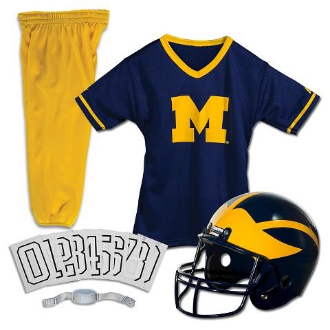 Franklin Sports Michigan Wolverines Deluxe Football Helmet/Uniform Set
