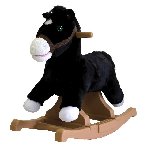 Tek Nek Rockin' Rider Talking Plush Black Pony Rocker