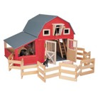 Maxim Red Barn with Side Stall and Corral
