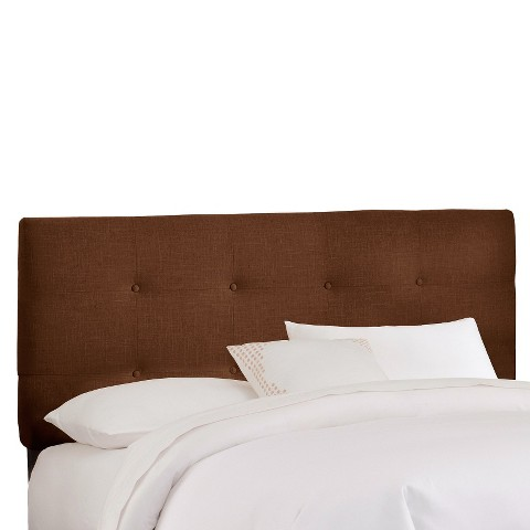 Dolce Buton Tufted Linen Headboard - Cho