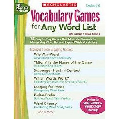 Vocabulary Games for Any Word List (Paperback)