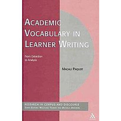 Academic Vocabulary in Learner Writing (Hardcover)