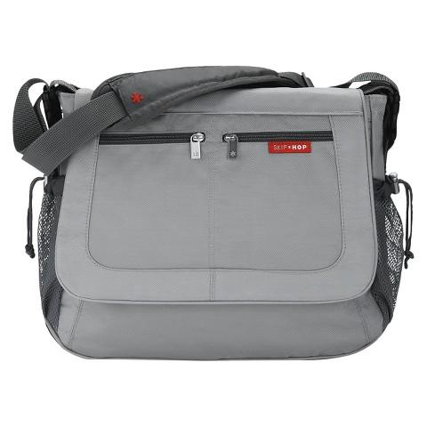 Skip Hop Via Tech Messenger Diaper Bag Platinum