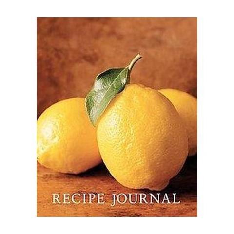 Lemon Recipe Journal (Notebook / blank book)