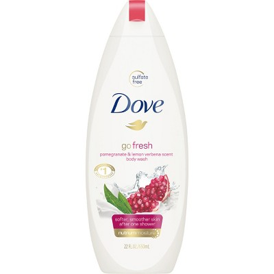 Dove go fresh Pomegranate and Lemon Verbena Body Wash 22 oz