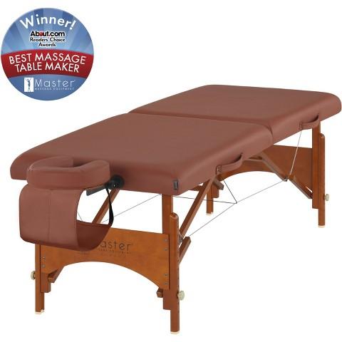 "Master Massage 25"" Fairlane Portable Massage Table Package-Cinnamon"