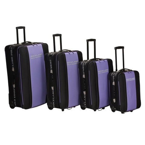 Rockland Polo Equipment 4 pc. Expandable Luggage Set - Purple