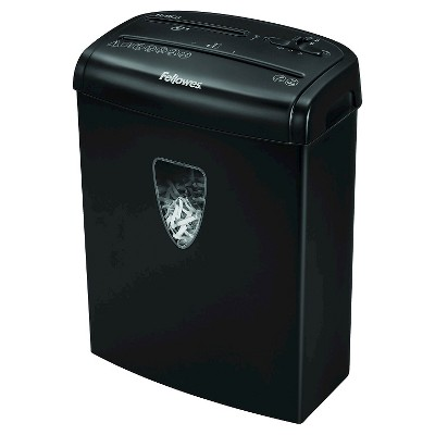 Fellowes® Powershred® H-8Cd Cross Cut Paper Shredder, 8 Sheets - Black