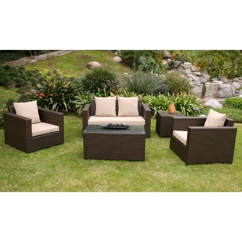 Khaki metro ii 5 piece patio lounge furniture set target for Outdoor furniture target