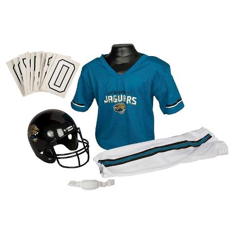 Franklin Sports Jacksonville Jaguars Deluxe Football Helmet/Uniform Set