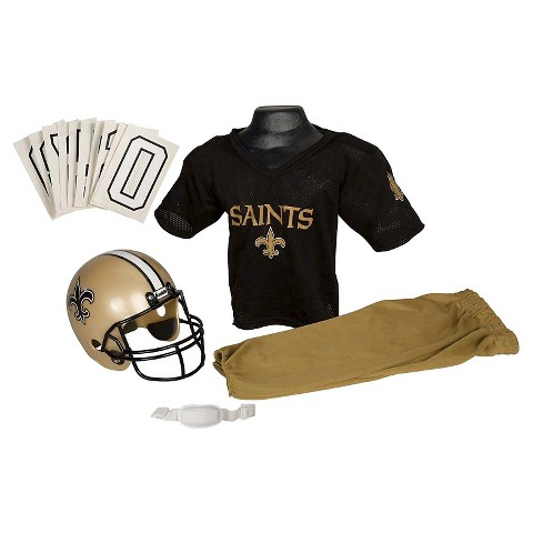 Franklin Sports New Orleans Saints Deluxe Football Helmet/Uniform Set