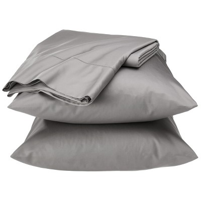 Egyptian Cotton 600 Thread Count Sheet Set - Light Grey (King) - Fieldcrest™