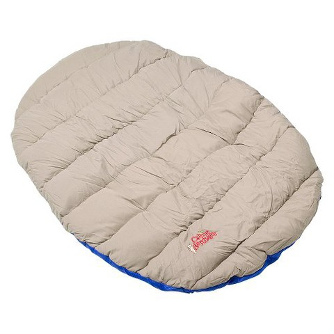 Pet Travel Bed - Beige/Blue