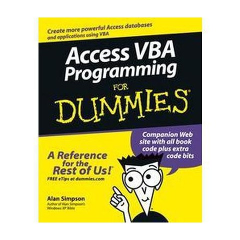 Access VBA Programming For Dummies (Paperback)