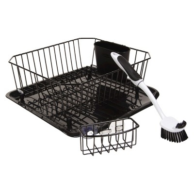 Rubbermaid #1F91-MA-BLA 4PC Black Sinkware Set