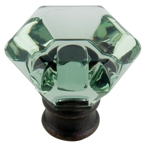 Threshold™ Acrylic Faceted Knob - 4-Pack - Green