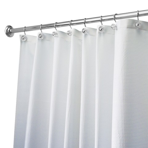 "Waffle Extra Wide Shower Curtain - White (108x72"")"