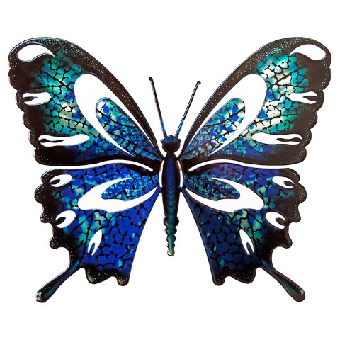 Wall Night Light Target : 3D Wall Art Butterfly - Blue/Black : Target