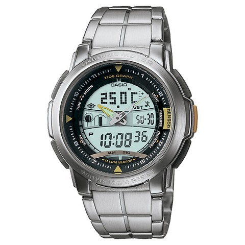 Men's Casio Thermometer Watch - Silver