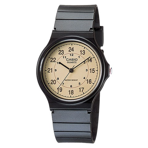 Casio Men's Analog Watch - Black - MQ24-9B