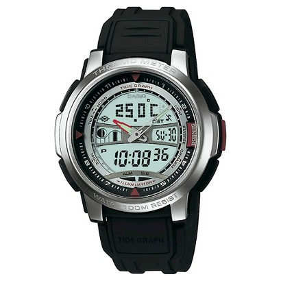 Casio Men's Thermometer Watch - Black - AQF100W-7BV