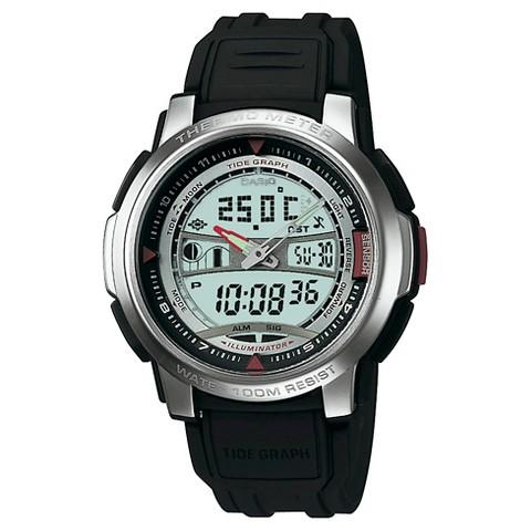 Casio Men's Thermometer Watch - Black - AQF100W-7BV