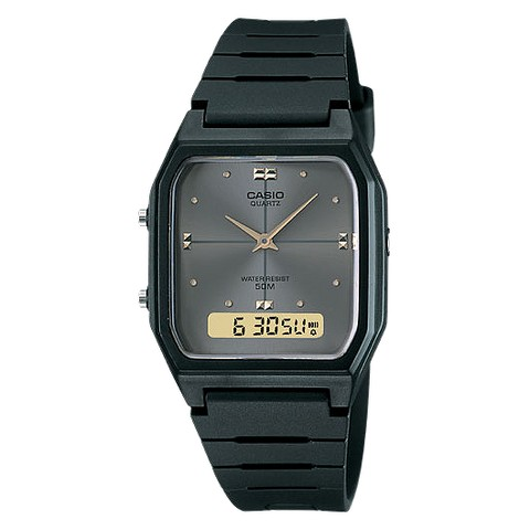 Men's Casio Analog Digital Dual Time Watch - Black