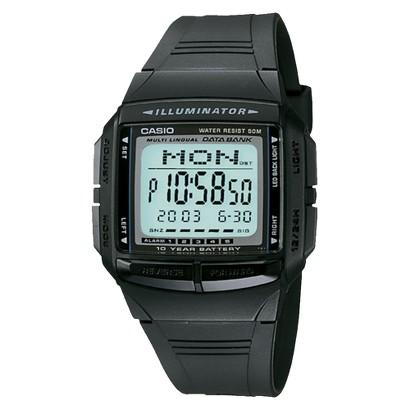 Casio Men's Multilingual Databank Watch - Black - DB36-1AV