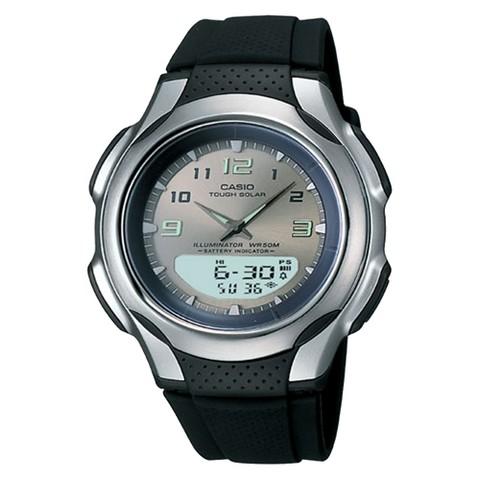 Men's Casio Analog Digital Solar Watch - Black
