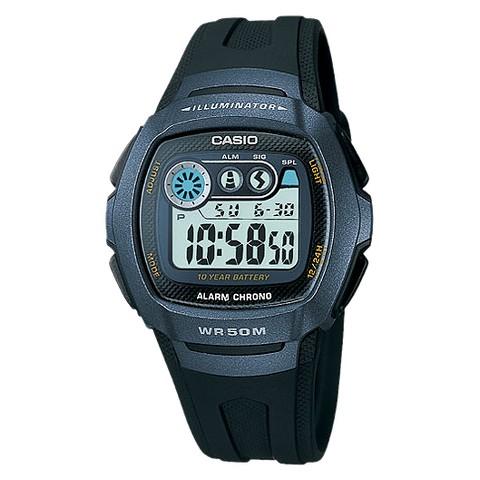 Casio Men's Alarm Chronograph Watch - Black - W210-1BV