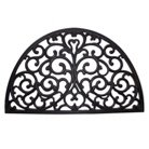 Decorative Half Moon Black Rubber Door Mat - Smith & Hawken™