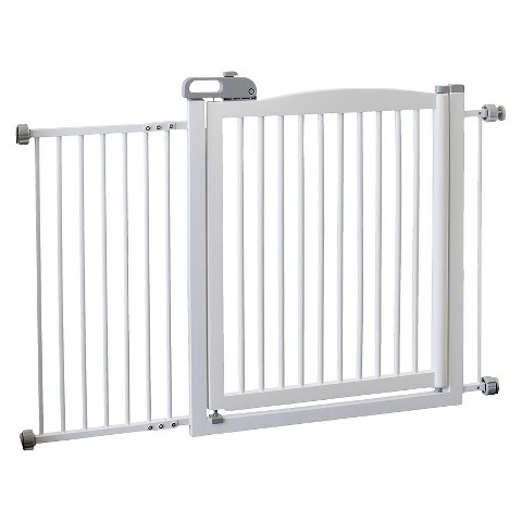 Richell One-Touch Pet Gate 150 - Origami White (Large)