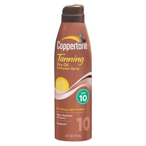 Coppertone Dry Oil Sunscreen Spray SPF 10