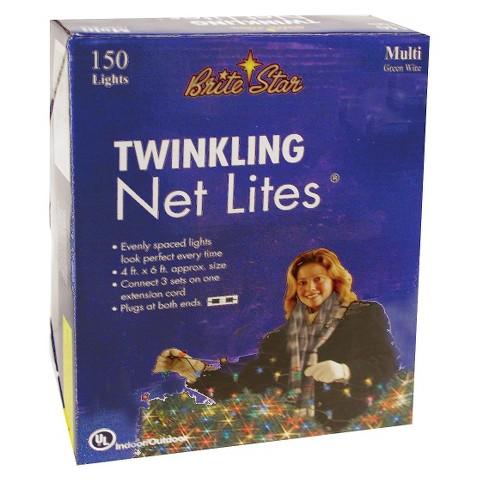 150ct Multi Twinkling Net Lights
