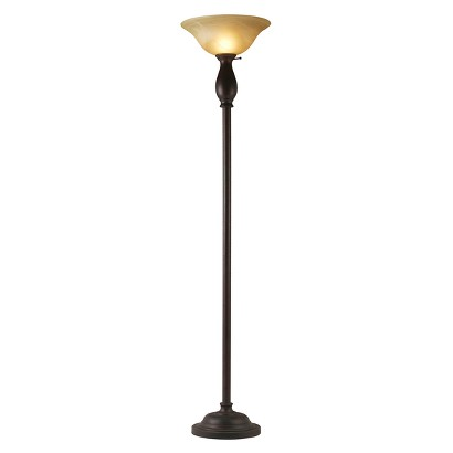 "Fancy Torchiere Lamp - Brown (71x16"")"