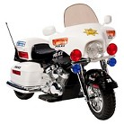 Kid Motorz Police Motorcycle 12V Ride On - Black/ White